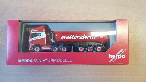 """NEUF Herpa 311908-1//87 VOLVO FH Gl thermomulden-Semi-remorque /""""mattersdorfer/"""""""