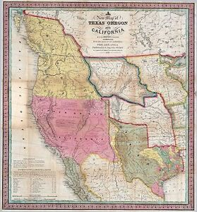 Old Map Of Texas.Details About 1846 Texas Republic Era Old Map Atlas Poster Early History State Mexican Us War