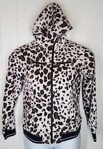 148fcdec5b91 Zenergy by Chicos 0 Jacket animal print white black leopard zipper ...