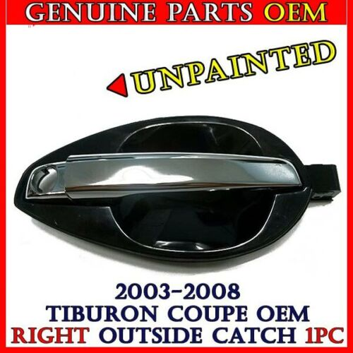 Coupe Unpainted outside door chrome handle catch OEM 2003-2008 Hyundai Tiburon