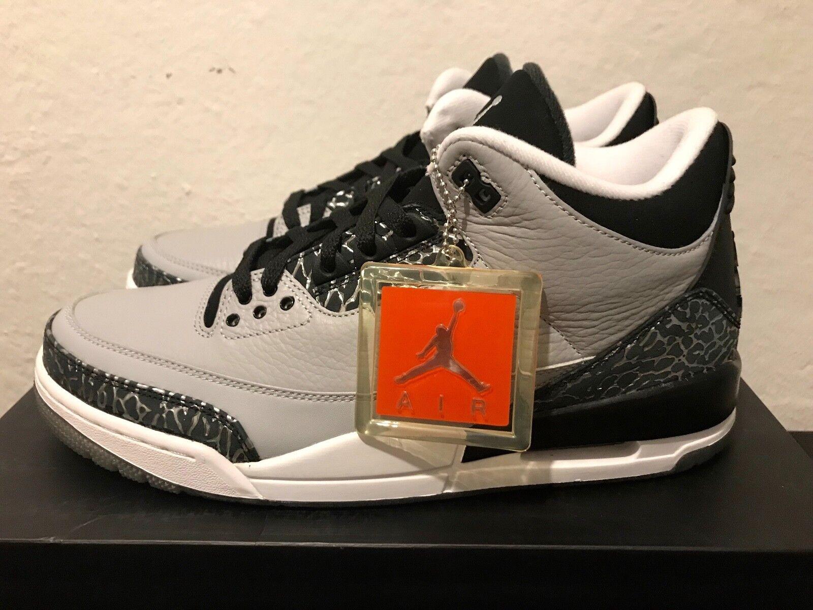 Nike Air Jordan 3 Retro  Wolf Grey  US 10.5 44,5 Max 1 supreme yeezy Sneaker