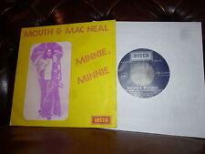 """Mouth & Mac Neal Minnie Minnie DECCA Belgium 7"""""""