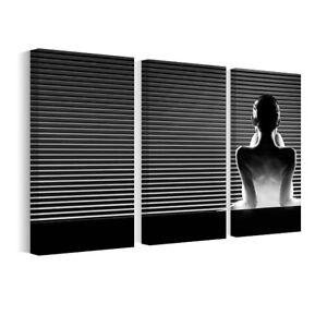 Bild Leinwand Bilder Schwarz-Weiß-Rückansicht, Wandbilder fürs ...