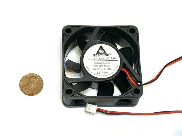 1 Piece Computer Case 2pin 6025 Dc Fan 12v 6cm 60x60x25mm Motor Cooling C38