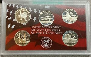 2001 S State Quarters Set Proof  5 Coins