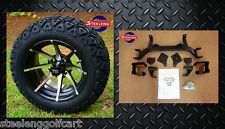 "EZGO TXT ELECTRIC GOLF CART 6"" LIFT KIT + 14"" KRAKEN WHEELS and 23"" AT TIRES"