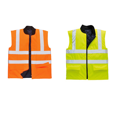 PORTWEST S428 orange or yellow hi-vis softshell jacket//bodywarmer size small-4XL