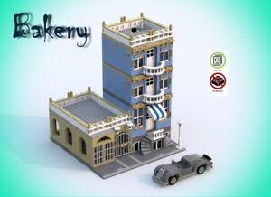 Lego-Bakery-with-retro-car-building-instruction-MOC-PDF-LDD-HTML