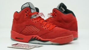 quality design fce90 2e2c6 Details about AIR JORDAN V 5 RETRO USED SIZE 7 MEN RED SUEDE BLACK  UNIVERSITY RED 136027 602
