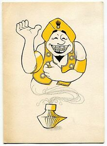 Image Is Loading 1966 Vintage DENTIST Birthday Card MAGIC LAMP GENIE