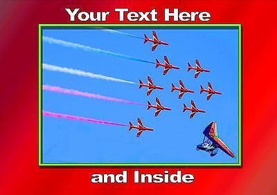 Red Arrows BAe Hawk Display Team Aircraft Plane Blank Birthday Fathers Day Card