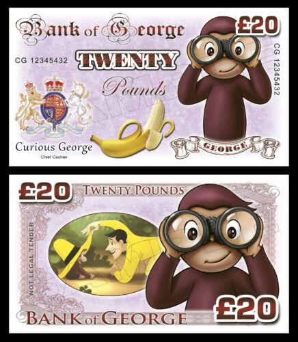 sac de fête charges Curious George nouveauté billets