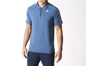 Details zu adidas Mens Cool 365 Quarter Zip climacool Short Sleeved Polo Shirt Golf Top Tee