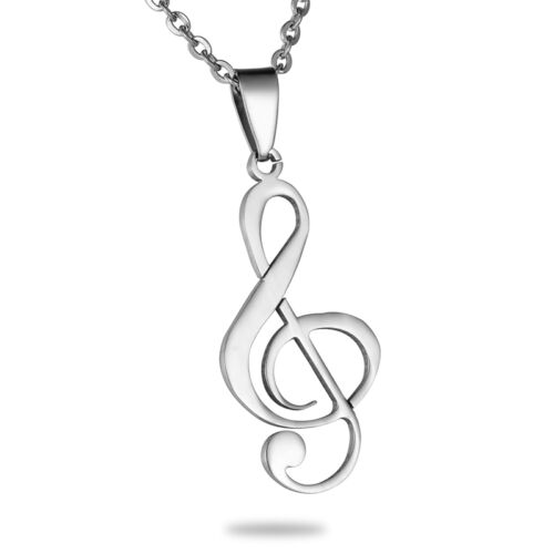 1PC Unisex Stainless Steel Syllabic symbol Pendant Round Fit Necklace 46x18mm