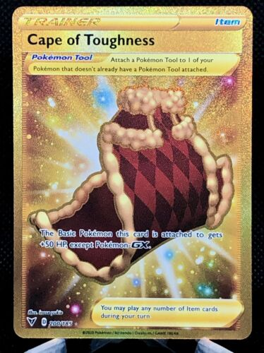 Cape Of Toughness GOLD SECRET RARE 200/185 Vivid Voltage Pokemon PSA 9 or 10!