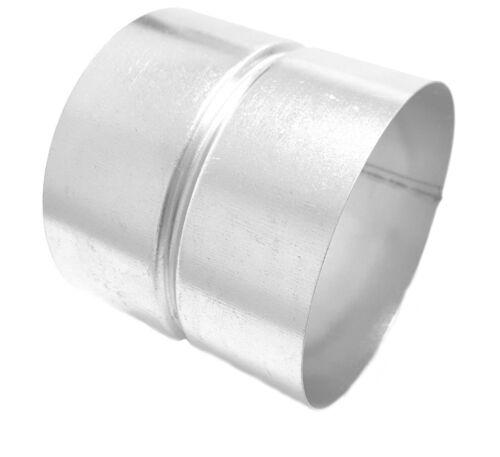 Muffe 150 mm Ø Verbindungsstück Stahl verzinkt  Formteilverbinder Verbinder
