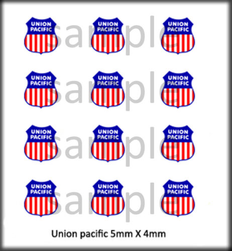 RSP BOLEY 1//87 HO SCALE VEHICLE DOOR DECALS UNION PACIFIC RR