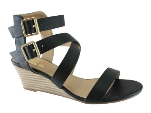 Shoes Black Wedge Heel Sandal New Toast by No
