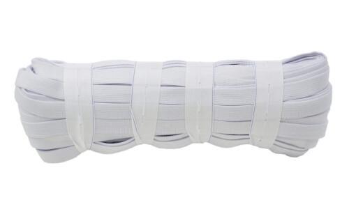 25 metros blanco negro cinta elástica ancha 5mm 10mm 12mm 15mm 20mm 25mm 30mm 35mm 40m