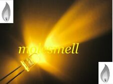 100 X LED 5mm Yellow Gold Candle Flicker Ultra Bright Flickering LED Model Prop
