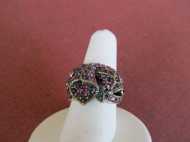 HEIDI DAUS Crystal Ring CALLA LILLY sz 5  NWOT