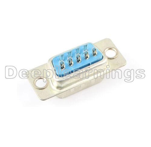 10PCS VGA Male Plug Socket DB9 9-Pin D-SUB 2 Rows Solder Type Connector Adapter