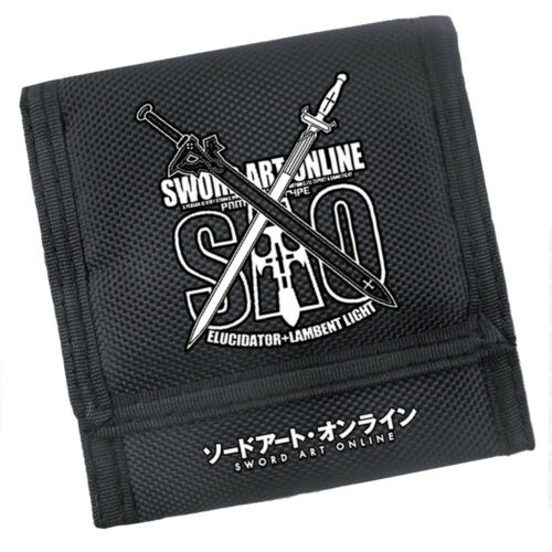 Anime Sword Art Online Kazuto /& Asuna Black Wallet Purse Cosplay Prop Gift Toy