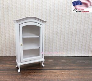 Dollhouse Miniature 1:12 Wood Display Cupboard Cabinet Shelf Showcase Food Drink