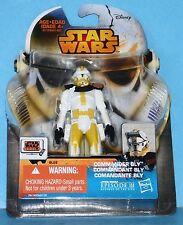 NEW Card Star Wars Saga Legends Action Figure SL26 SW EPIII C0MMANDER BLY