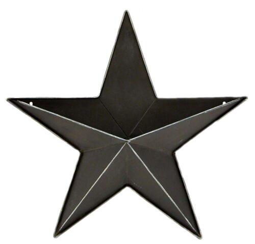 "Black Metal 3D Barn Star Wall Pocket Farmhouse Home Decor 20/"" NEW KK7249BK-20"