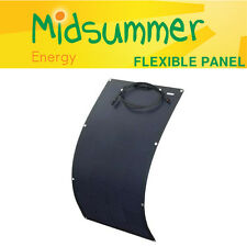140W 12V bendy all-black solar panel with strong self-adhesive backing - yachts