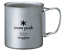 Titanium Double Mug Japan import NEW snow peak Snow peak