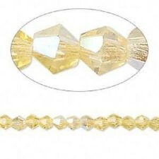 Glass Bicone 10 mm Cider ~ 12 Beads