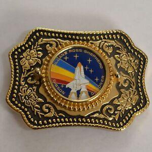 Space-Shuttle-Atlantis-Square-Belt-Buckle-Gibson-Mullane-Ross-Shepherd-Gardner