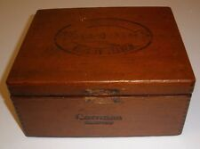 Vintage Wooden Dove Tailed Cigar Box D M Coronas PA 5 Cent