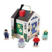 Melissa And Doug Deluxe Wooden Doorbell House , New, Free Shipping