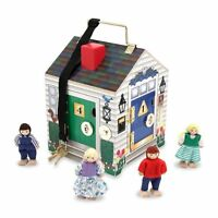 Melissa And Doug Deluxe Wooden Doorbell House , New, Free Shipping on sale