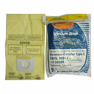 Details About 9 Vacuum Bags Kenmore Panasonic Canister Type C 5 Part 137