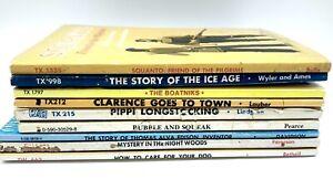 Vintage Scholastic 9 Book Lot SBS PB Pippi Longstocking Wizard Of Menlo Park