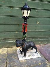 Latex & Fibreglass Mould Of A Staffy Dog Lampost
