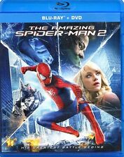 THE AMAZING SPIDER MAN 2 DISC NEW BLU RAY +DVD FILM MARVEL EMMA STONE JAMIE FOXX