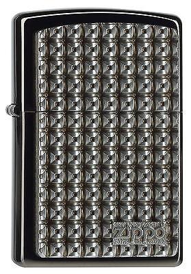 ZIPPO Feuerzeug LEVELCASE m. Emblem Ebony High Polished Metall Design NEU OVP