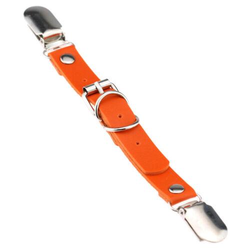 2Pcs Women Leather  PU Clips Leg Garter Straps Thigh High Stockings Belt Corset