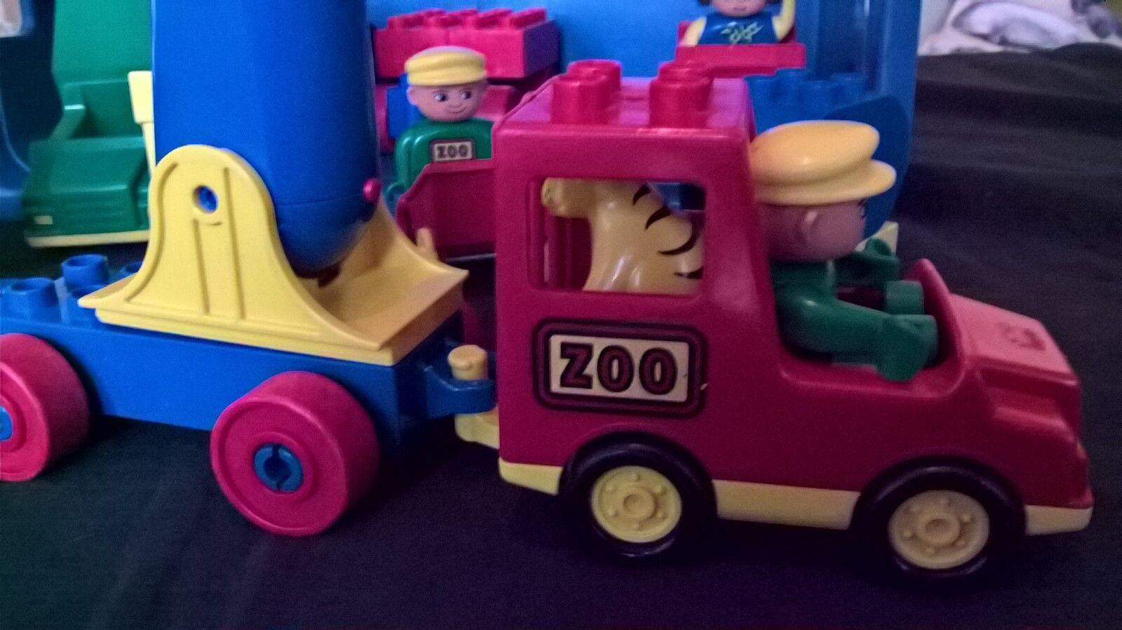 Lego Duplo Duplo Duplo usados y bien vehículos zoo circo en caja azul  mejor vendido