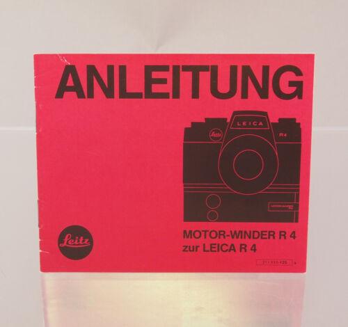 Instrucciones motor-Winder R 4 para Leica R 4 32373