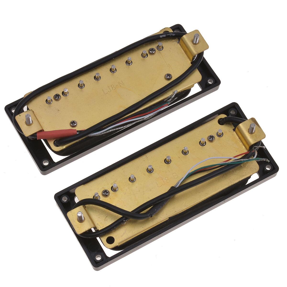 humbucker pickups set bridge and neck for 8 string electric guitar parts passive ebay. Black Bedroom Furniture Sets. Home Design Ideas