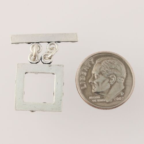 New Toggle Clasp Square Attachment Sterling Silver Scroll Work Jewelry Findings
