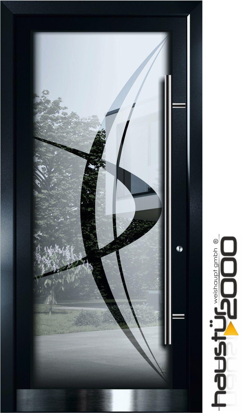 Aluminium Haustür Ganzglasfüllung Alu Tür n. Maß Mod. HT 5500 GLA  HAUSTÜR2000®