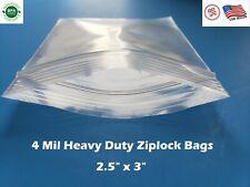 25x 3 Clear 4 Mil Plastic Zip Seal Bag Reclosable Top Lock Small Baggie 4mil