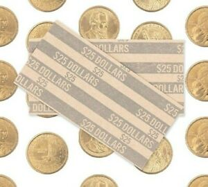 LOT 25 BRAND NEW DIME WRAPPERS ROLLS COIN TUBE 10 CENTS FLAT STYLE MADE IN USA
